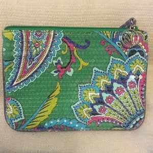 Vera Bradley Wristlet in Green sequins
